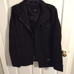 Heavy black jacket man or woman
